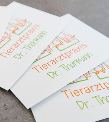 Imagefoto der Visitenkarten der Tierarztpraxis Dr. Thormann in Bönen